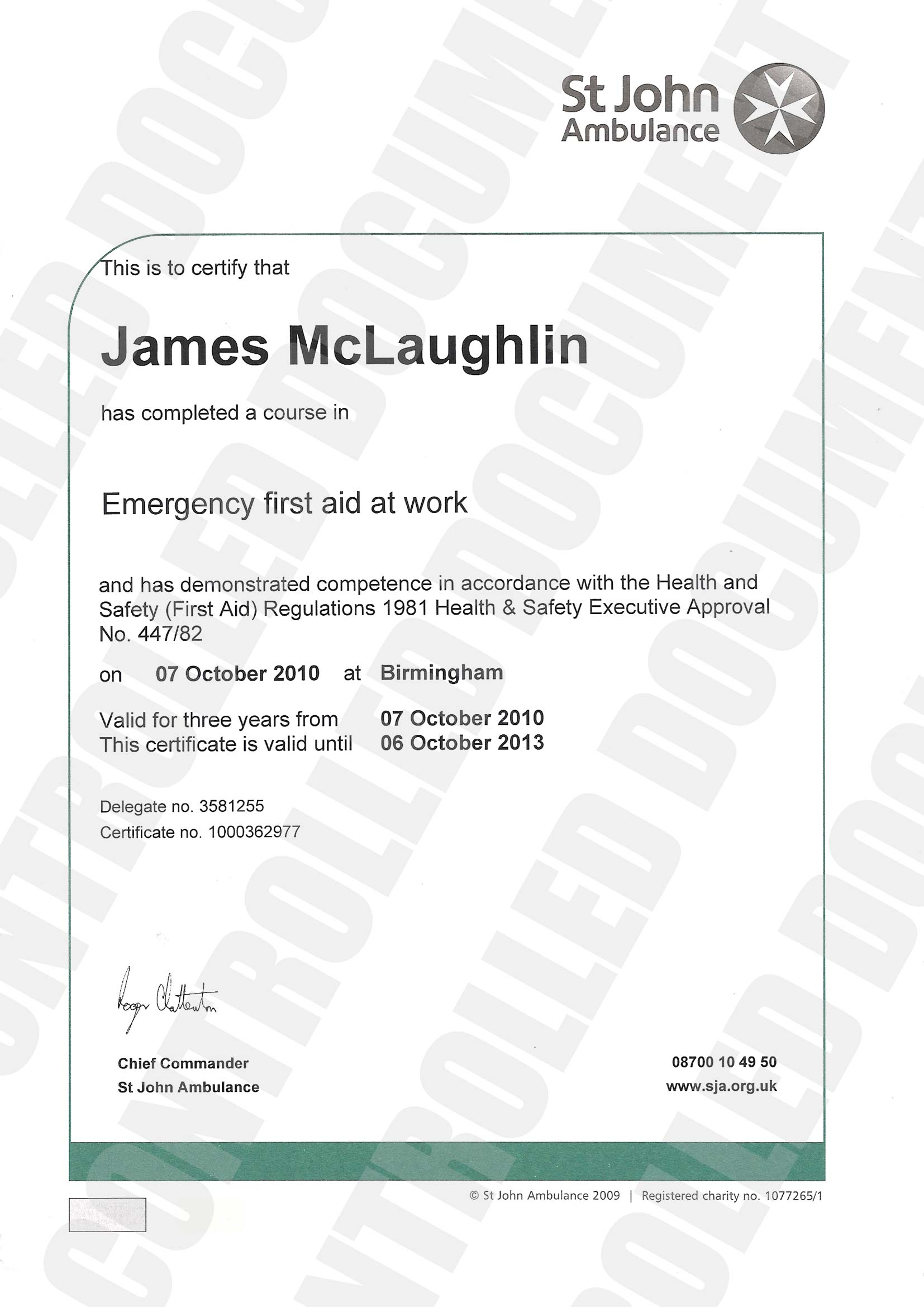 Woodfellas health and safety policy environmental policy for First aid certificate template free